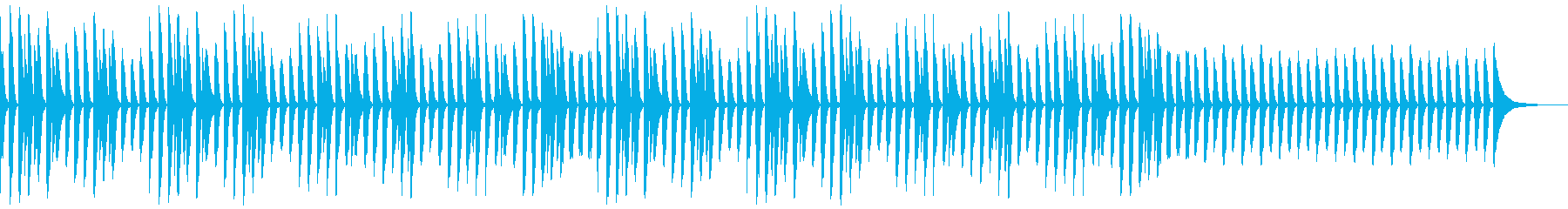 YouTube・日常・ほのぼのピアノソロの再生済みの波形
