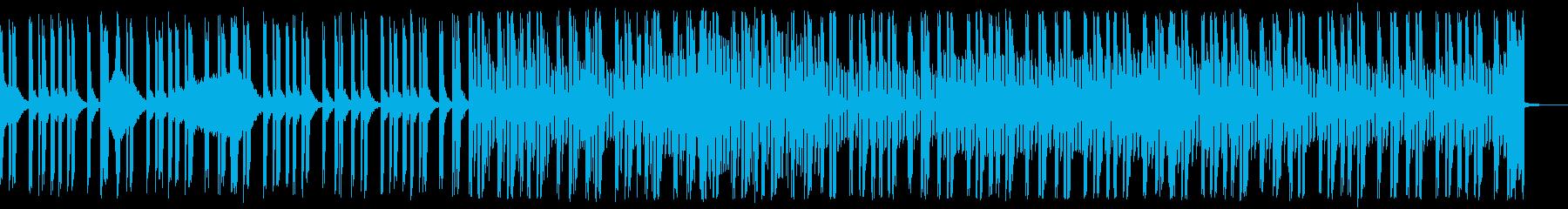 リズムレスの洒落た青いイメージのEDMの再生済みの波形