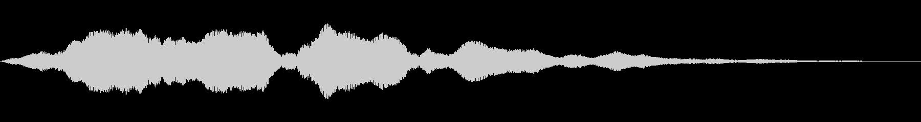 非常に低い周波数のゴロゴロ音:水中...の未再生の波形