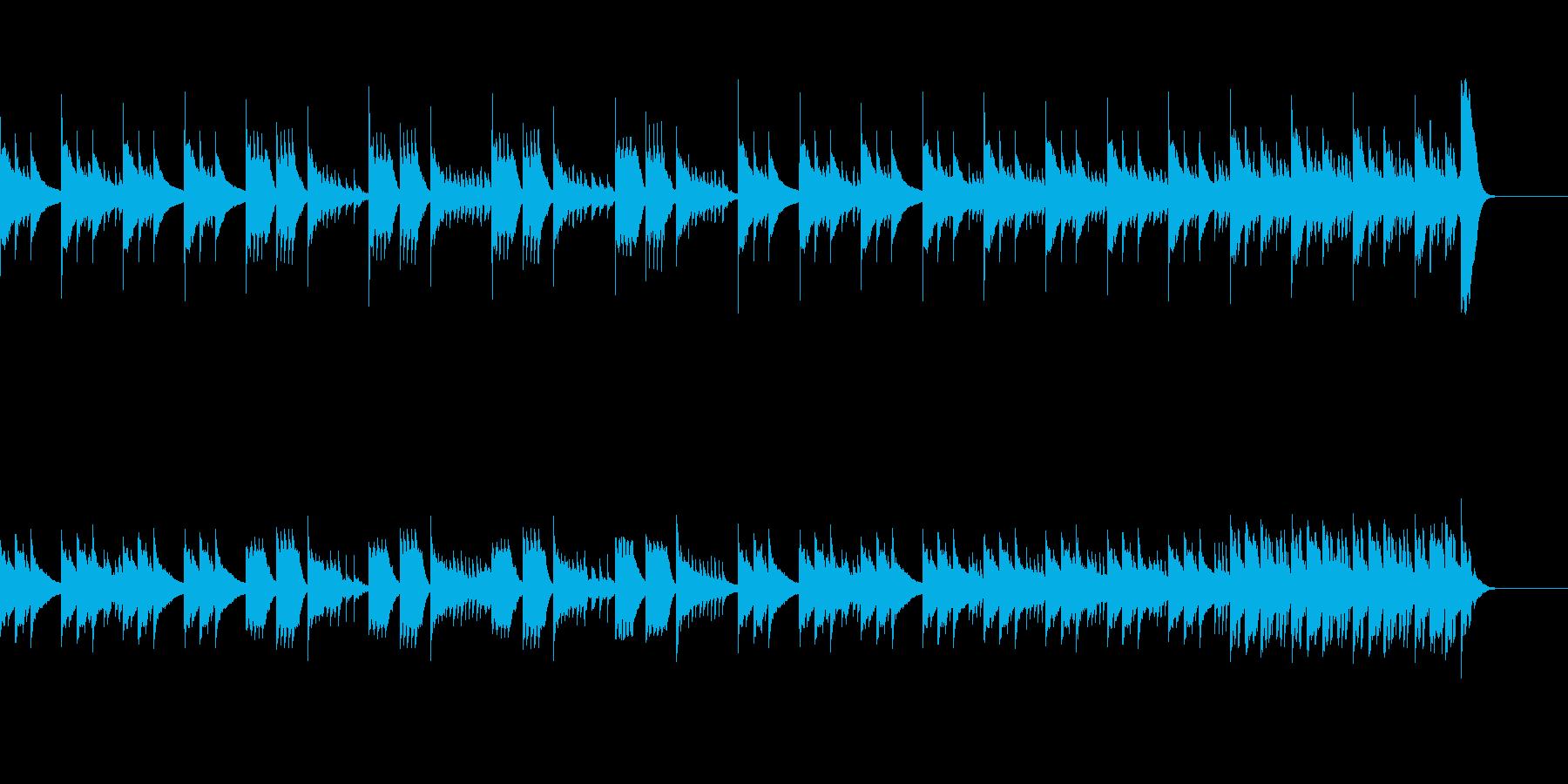 切なく優しい旋律のピアノバラードの再生済みの波形