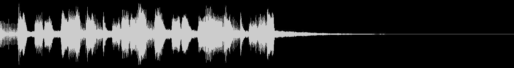 金管楽器による短いアンサンブルの未再生の波形