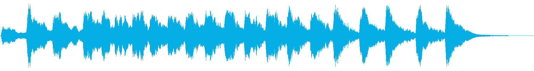 レプトン教会D#ベル:リンギングの再生済みの波形