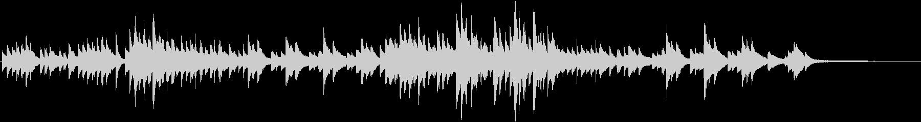 淡々としたピアノBGM(短調)の未再生の波形