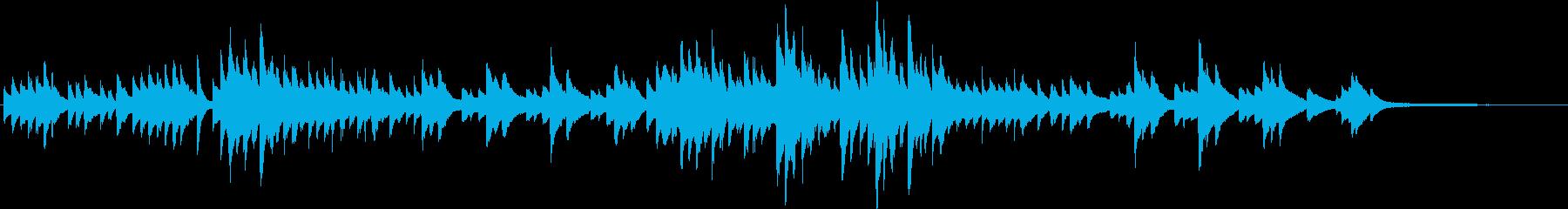 淡々としたピアノBGM(短調)の再生済みの波形