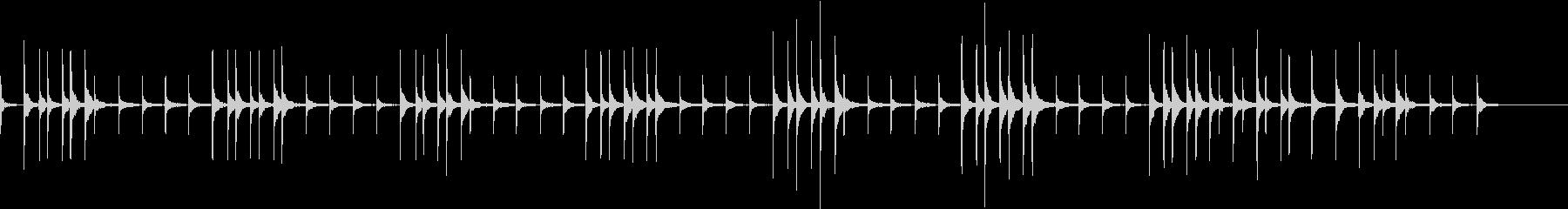 ウキウキしたシロフォンの未再生の波形