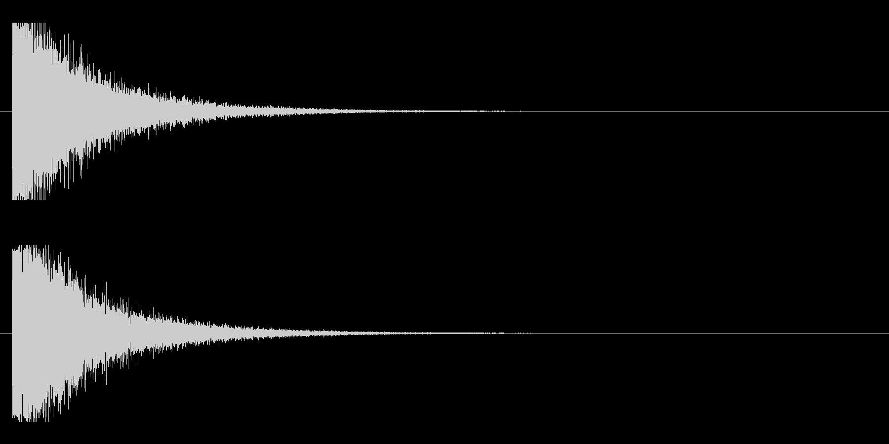 レーザー音-10-1の未再生の波形