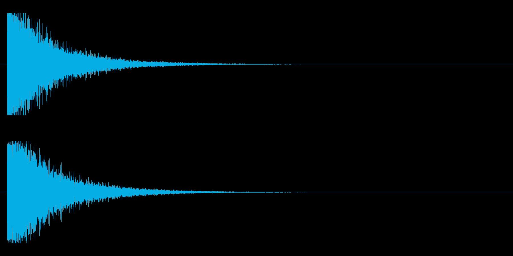 レーザー音-10-1の再生済みの波形