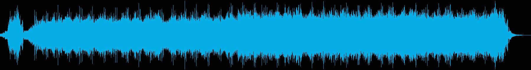 テクノロジーや進化を想起する神秘的な曲の再生済みの波形