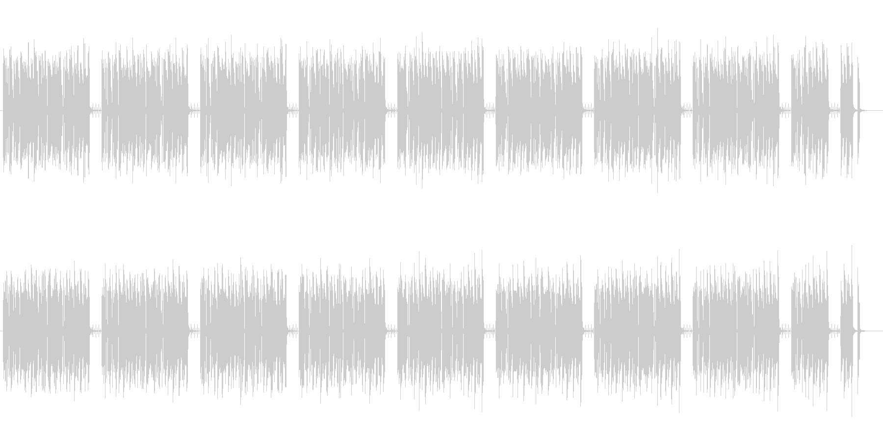 コミカルでエレクトロなゲームBGMの未再生の波形