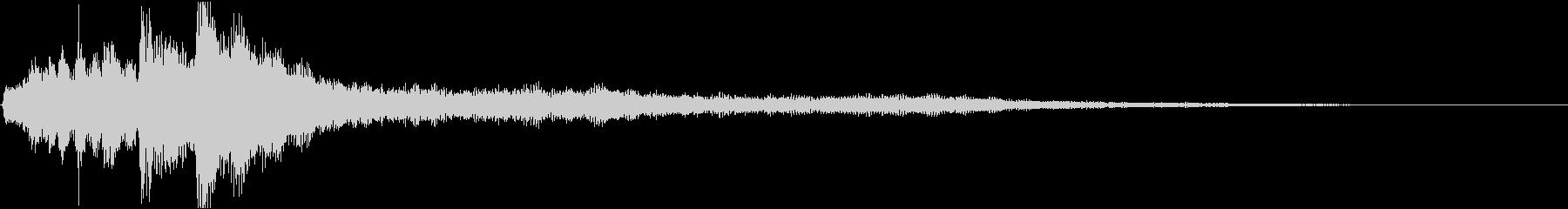 ローファイ・ドキュメンタル風ピアノの未再生の波形