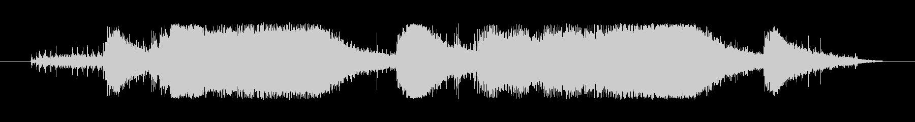 チェーンソーの起動、アイドル、回転...の未再生の波形