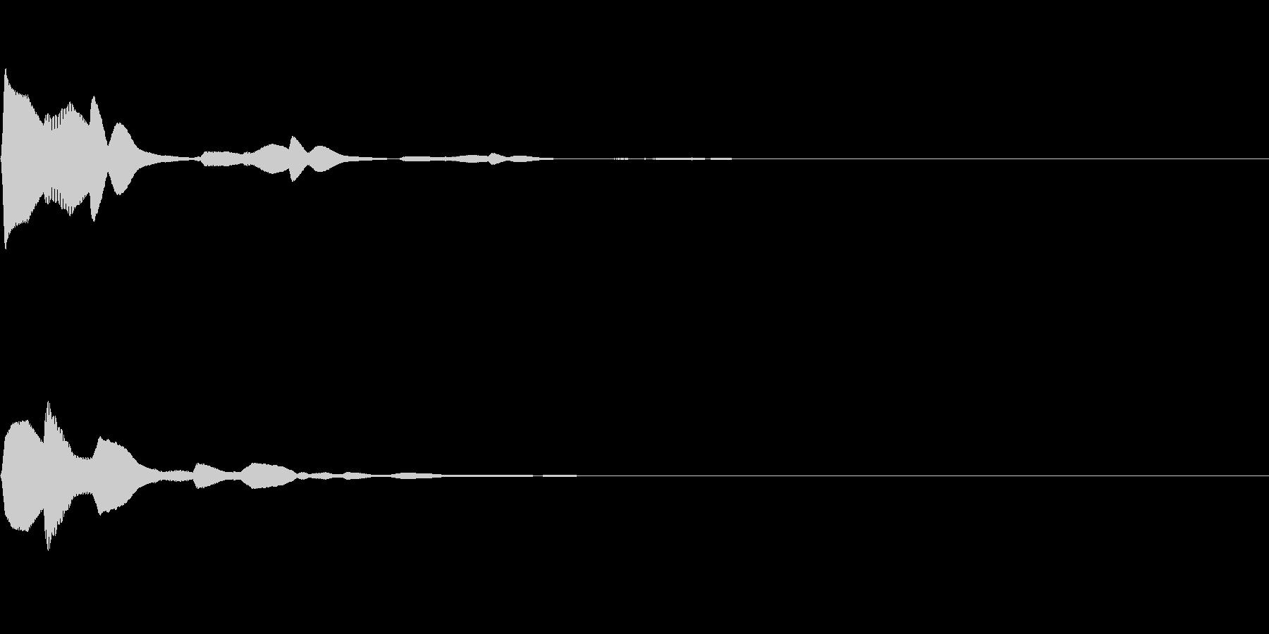 決定/クリック/選択音(ピコンッ)の未再生の波形