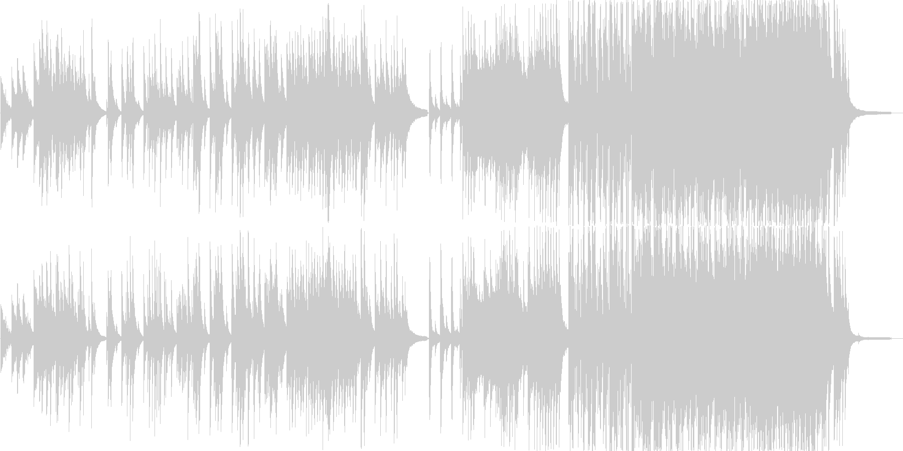 旋律の綺麗なピアノ曲の未再生の波形