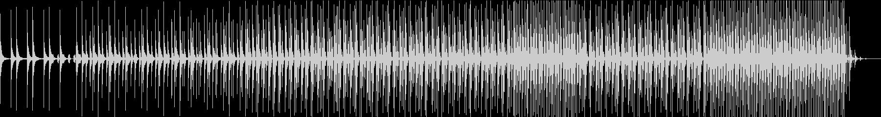 3拍子の中華風テクノ「亡霊のダンス」の未再生の波形