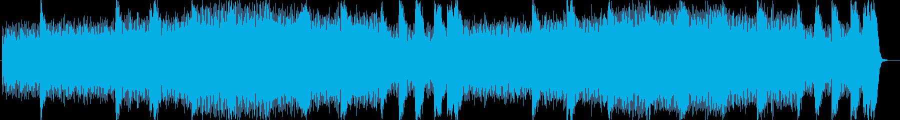 盛大なオープニングのシンセサイザー曲の再生済みの波形