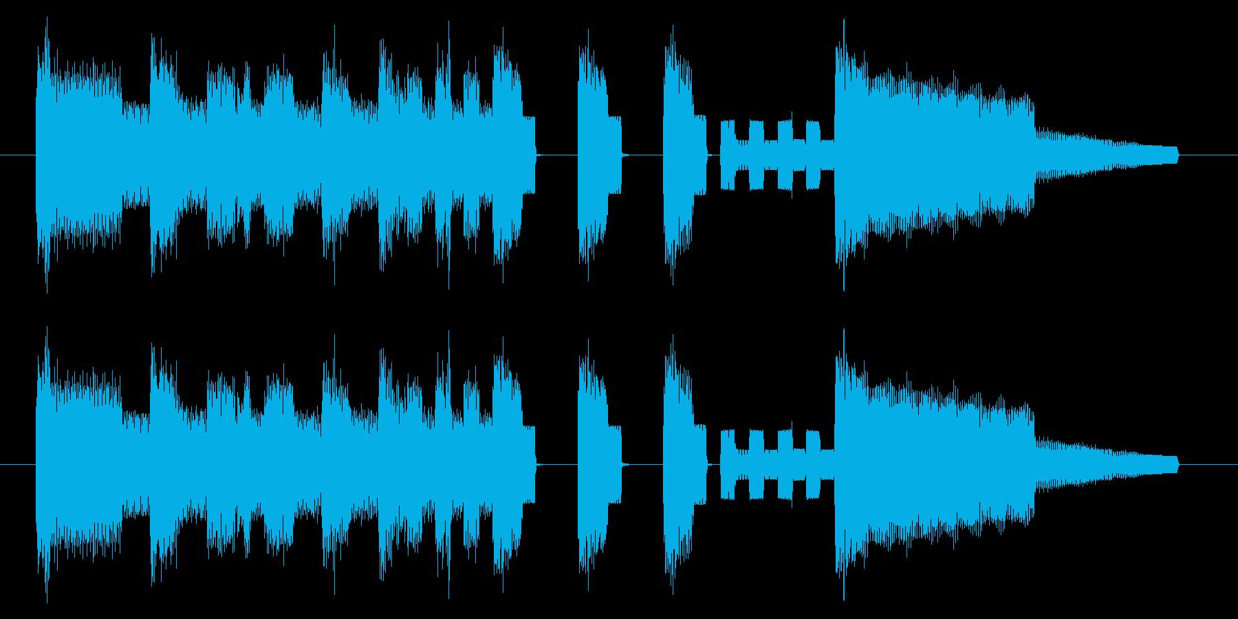 GB風スポーツゲームのジングルの再生済みの波形