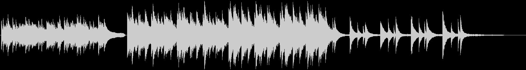 哀愁感のあるピアノのBGMの未再生の波形