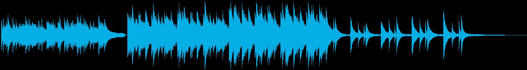 哀愁感のあるピアノのBGMの再生済みの波形