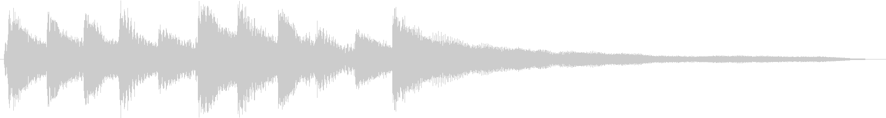 シンプルなピアノ - 映像に最適の未再生の波形