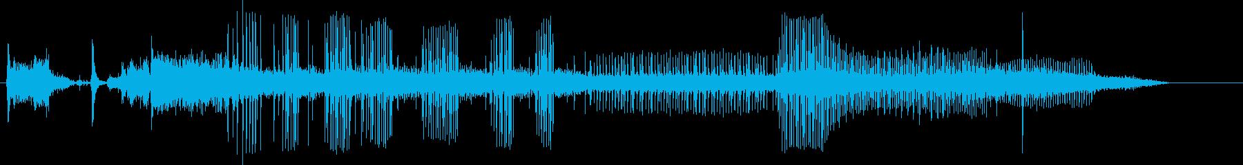 自動車;開始/アイドル/オフ。 M...の再生済みの波形