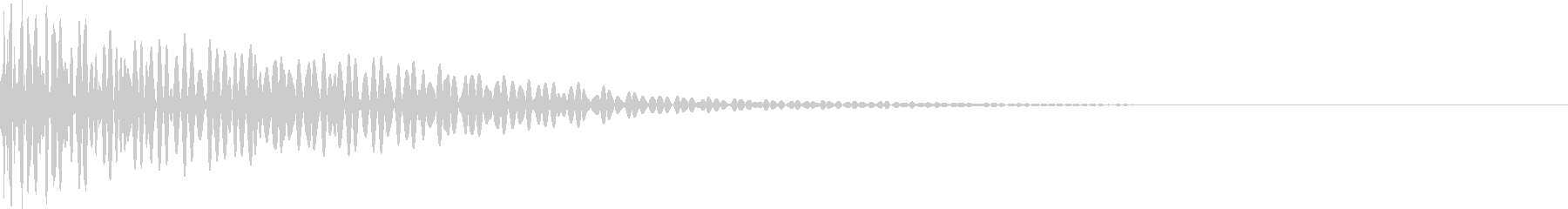 ドン(太鼓)の未再生の波形