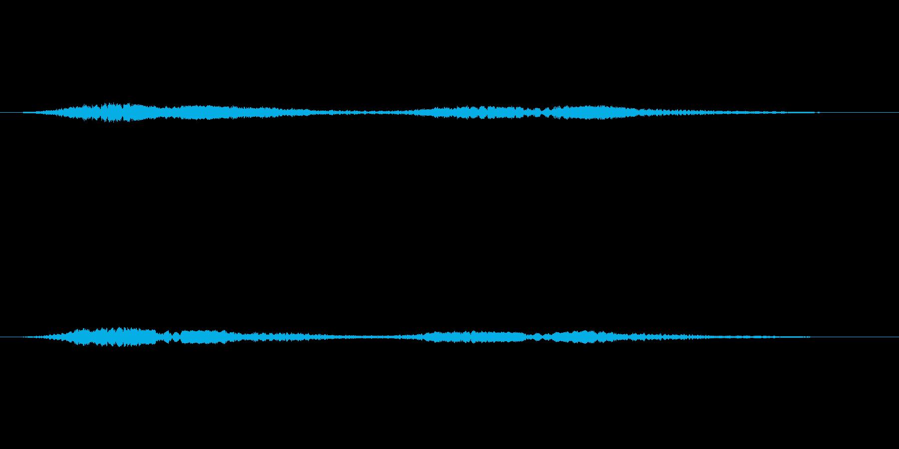 「お化けが出そうな音」の再生済みの波形