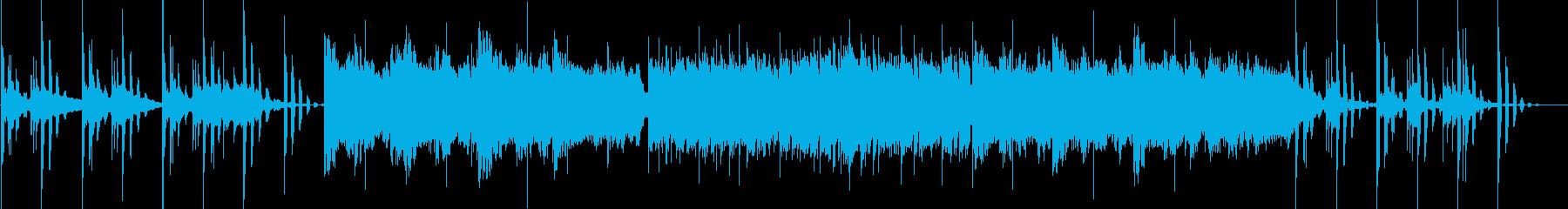 オルガンとストリングスのバラードポップスの再生済みの波形