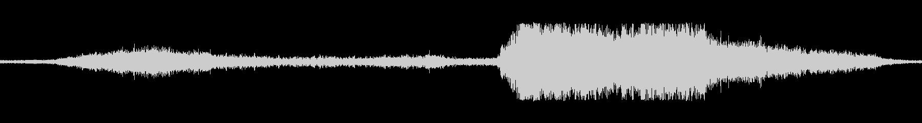 ジェットパスランブルテールスローの未再生の波形
