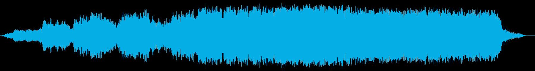 巨大な氷河をイメージしたニューエイジ音楽の再生済みの波形