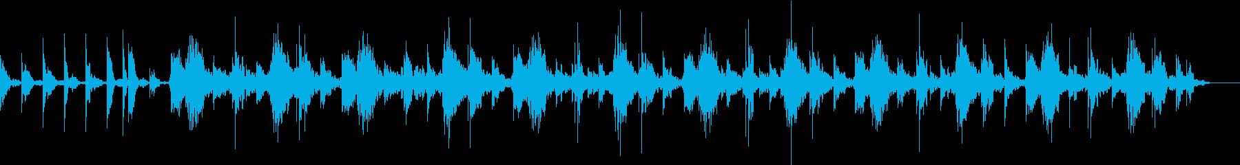 赤ちゃんの泣き止む音楽の再生済みの波形