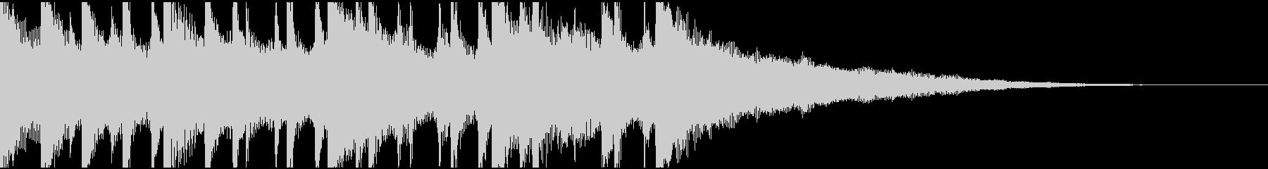 ウクレレ、ピアノの楽しい楽曲15秒verの未再生の波形