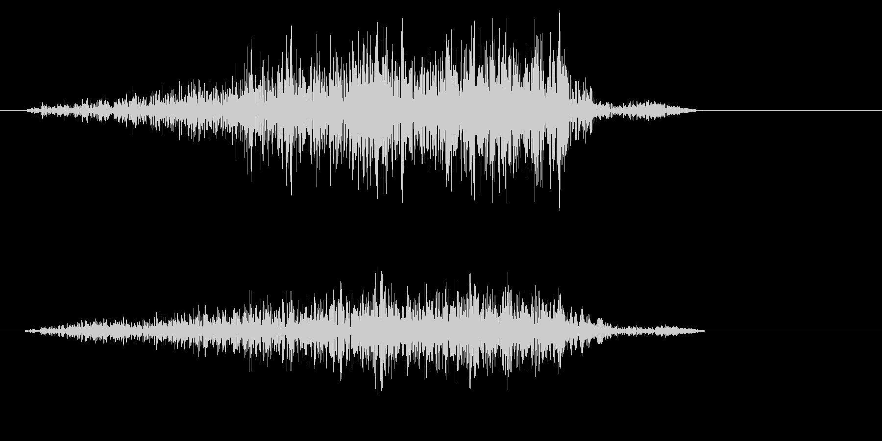 ズシャーッ(摩擦音)スコップの未再生の波形