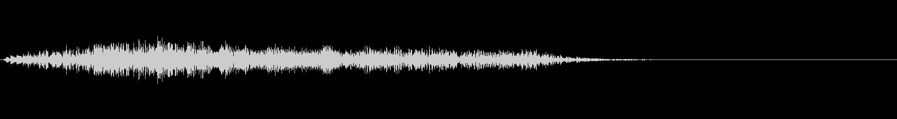 [生録音]ファスナーを開け閉めする音03の未再生の波形