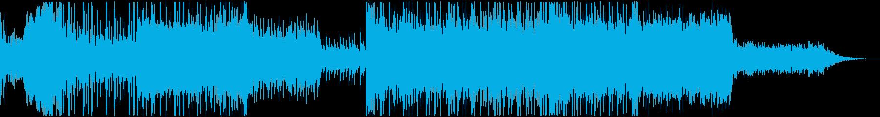 ノリのいいギターハロウィン曲の再生済みの波形