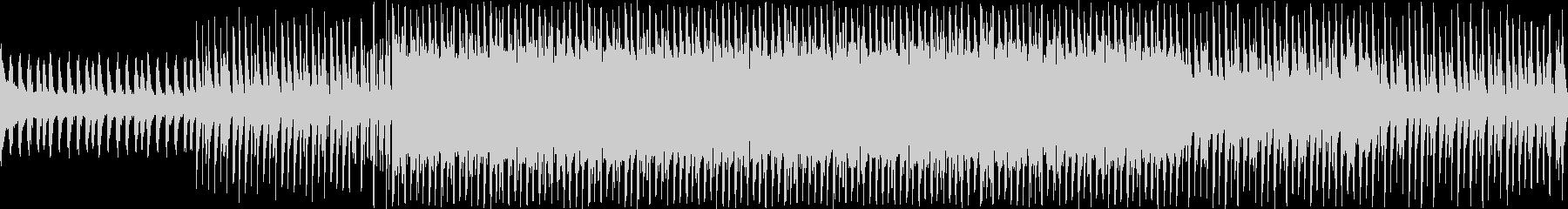 ピアノとシンセリードのおしゃれなループ曲の未再生の波形