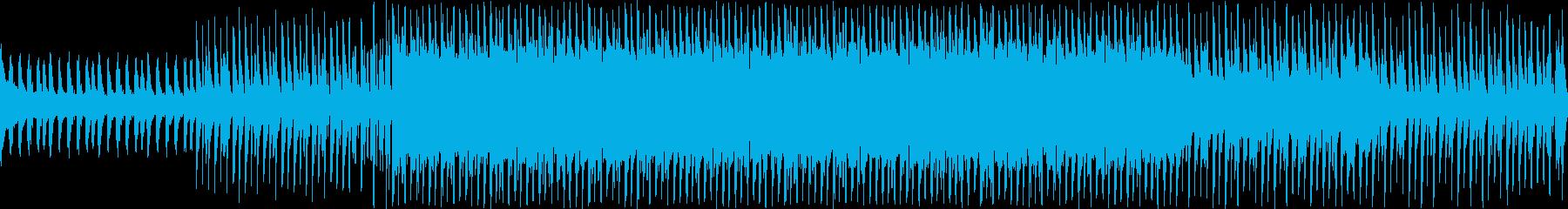 ピアノとシンセリードのおしゃれなループ曲の再生済みの波形