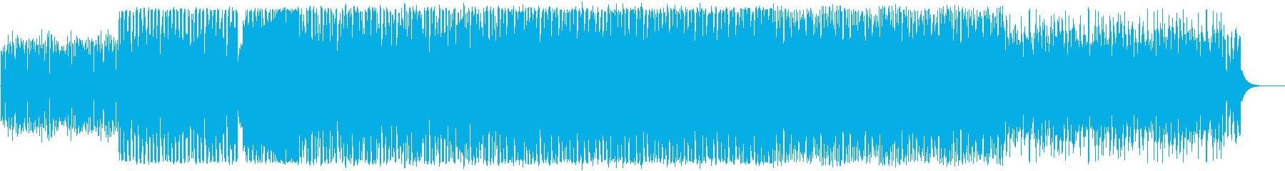 勢いがあり、明るく前向きなEDM系BGMの再生済みの波形