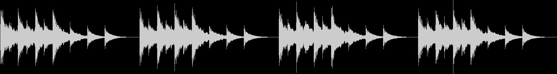 電話の着信音やアラームに最適なジングルの未再生の波形
