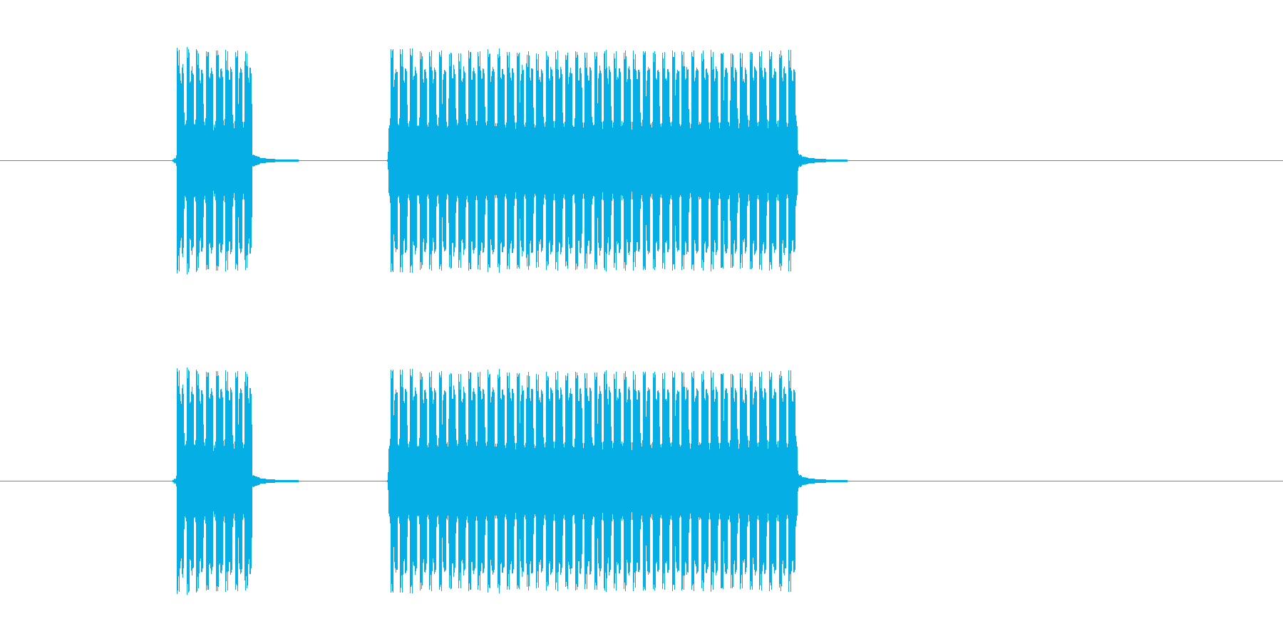 「ぶっぶー!」クイズ不正解用ジングルですの再生済みの波形