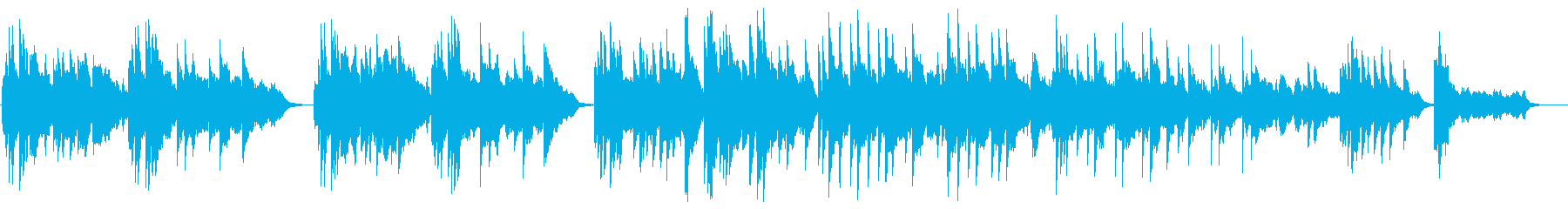 Relaxation music by the piano's reproduced waveform