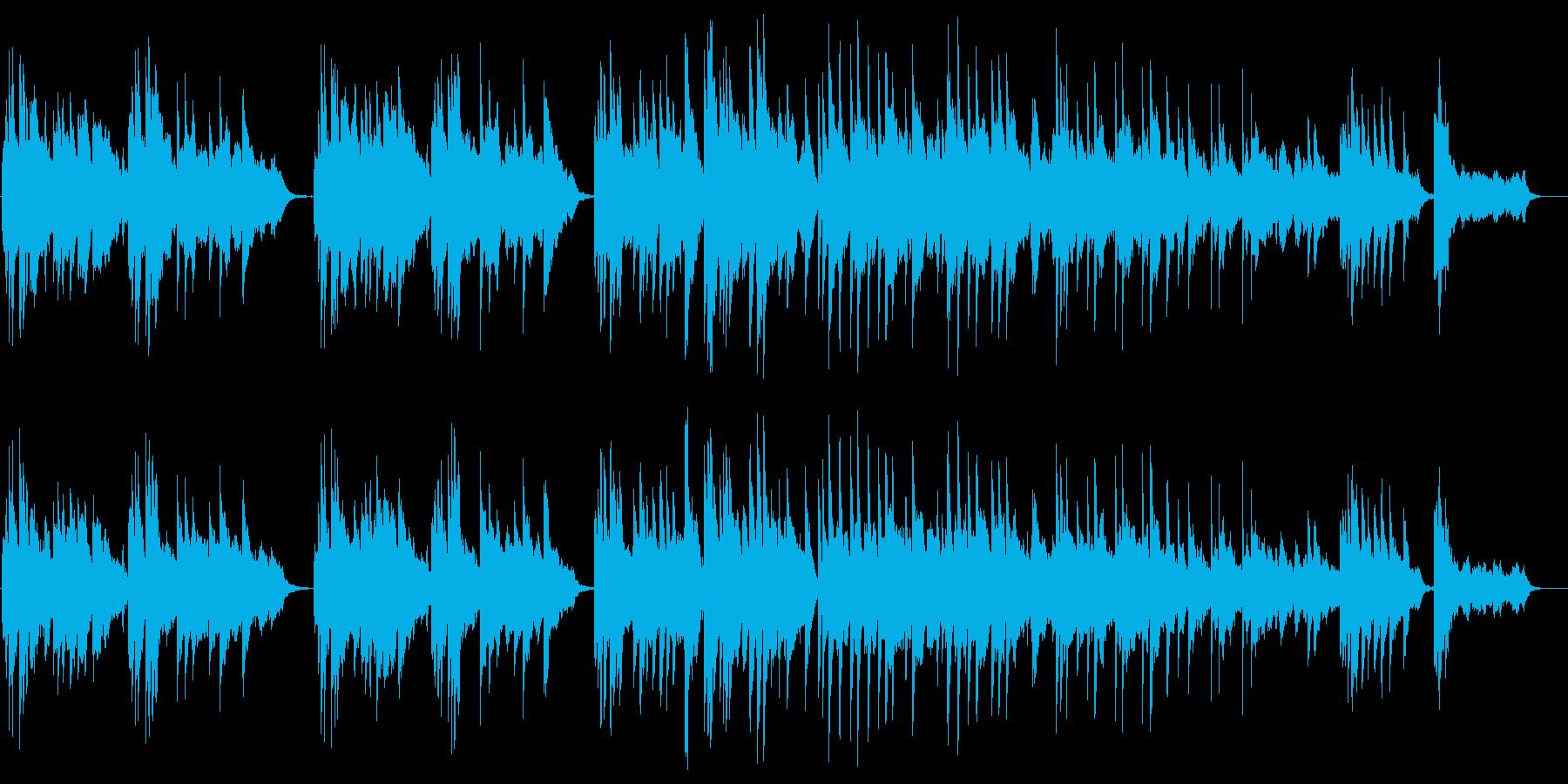 ピアノによるリラクゼーションミュージックの再生済みの波形