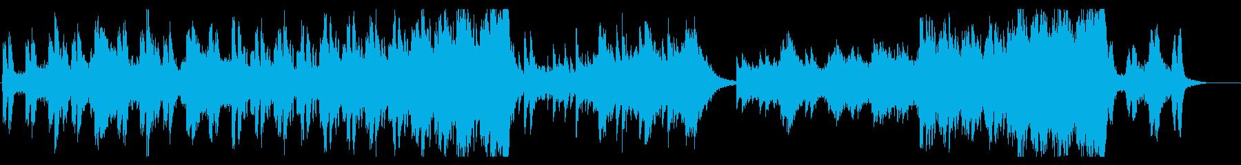 淡々と不安を煽るサスペンス系BGMの再生済みの波形