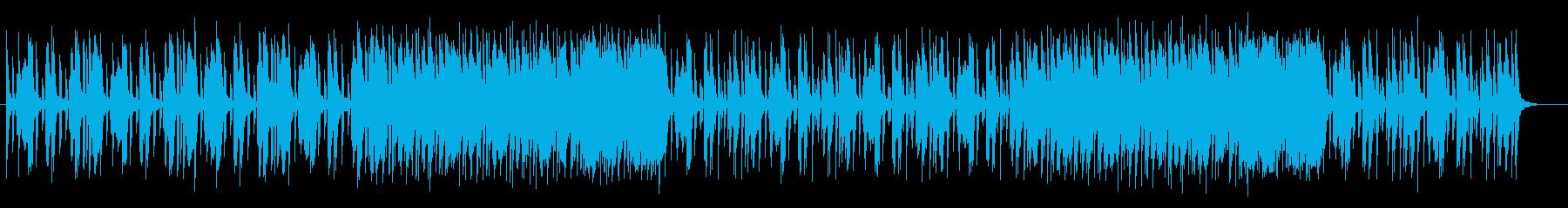 うきうきするレトロなシンセサイザー曲の再生済みの波形