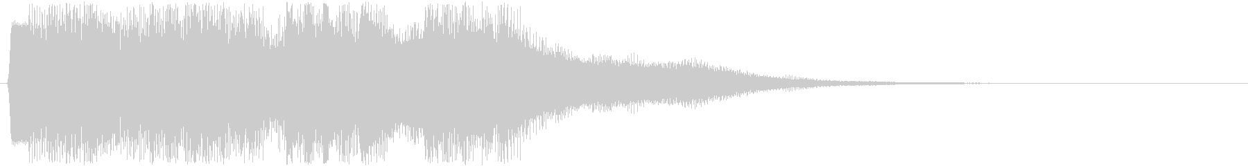ピコピコ音での場面転換音 綺麗な切替音の未再生の波形