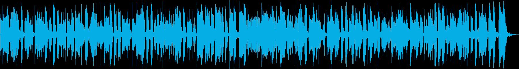 ボサノバ風のアコギインストの再生済みの波形