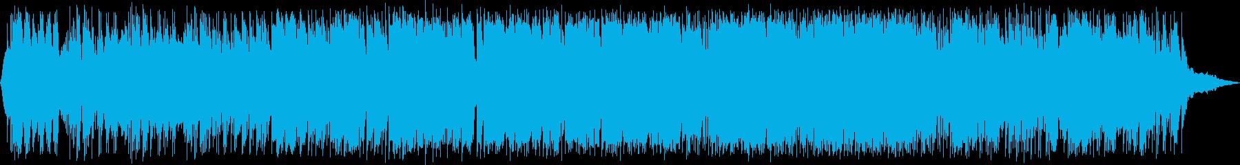 近未来感のあるテクスチャーBGMの再生済みの波形