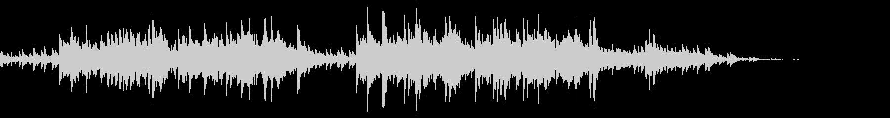 静かな探索シーン向けピアノBGMの未再生の波形