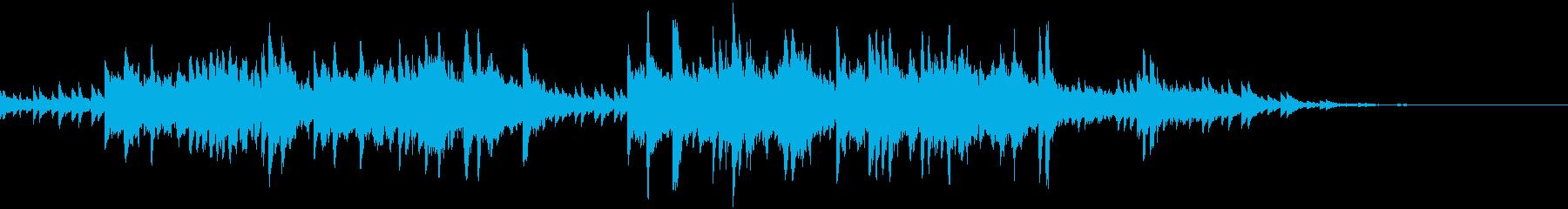 静かな探索シーン向けピアノBGMの再生済みの波形