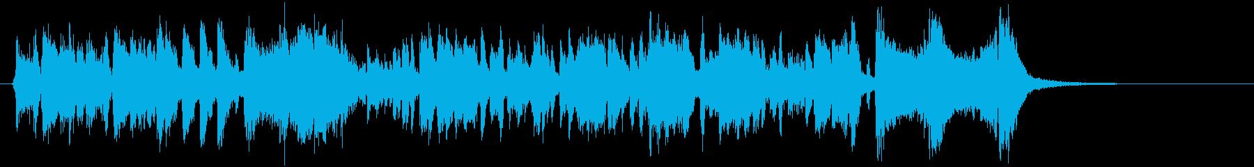 生演奏!バッキバキなホーンの短いジングルの再生済みの波形