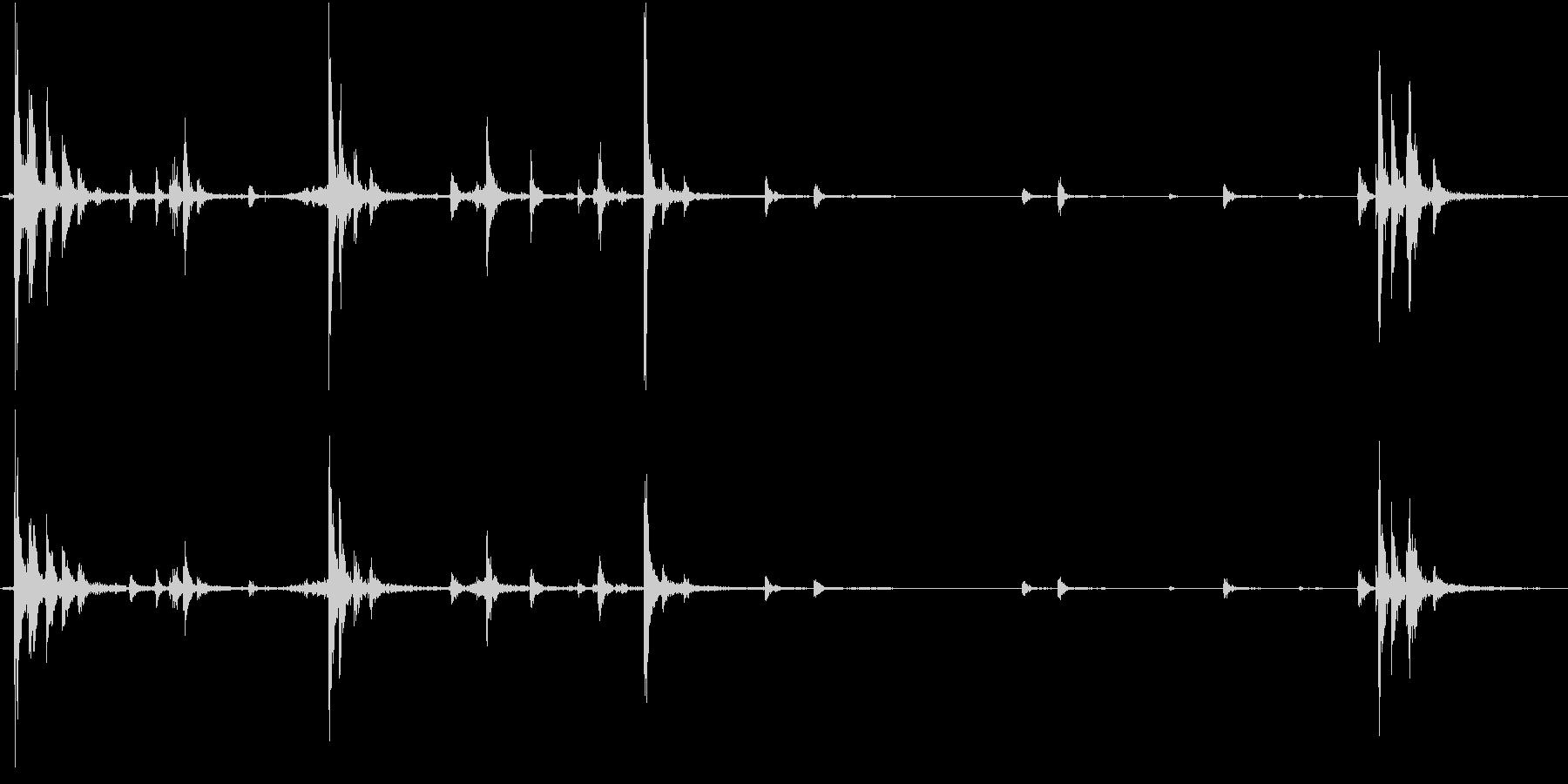 【生録音】ハンガーの音 4 整理するの未再生の波形